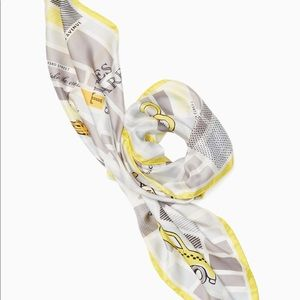 Kate Spade New York Taxi Square NYC Silk Scarf